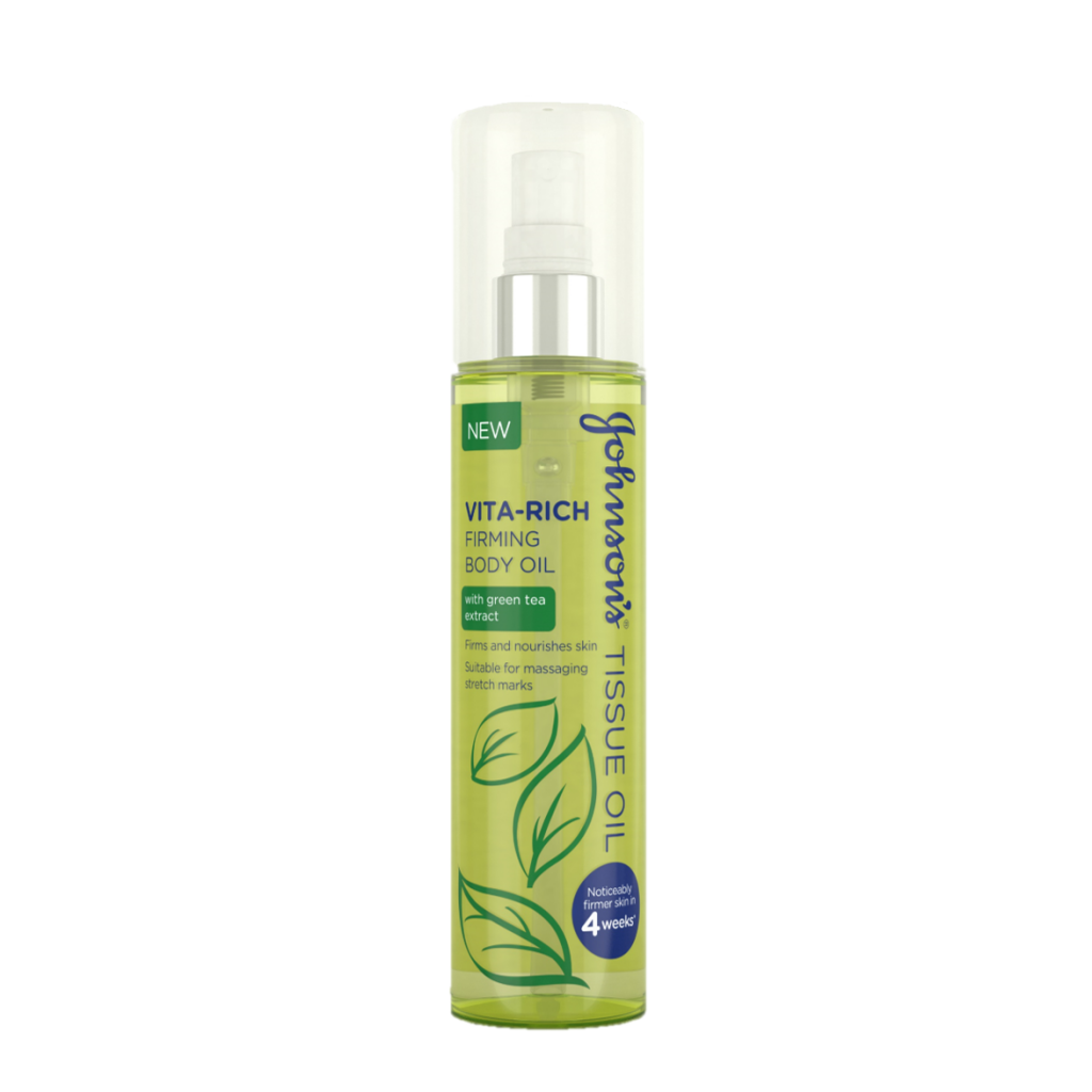 JOHNSON'S® Vita Rich Firming Body Oil with Green Tea Extract