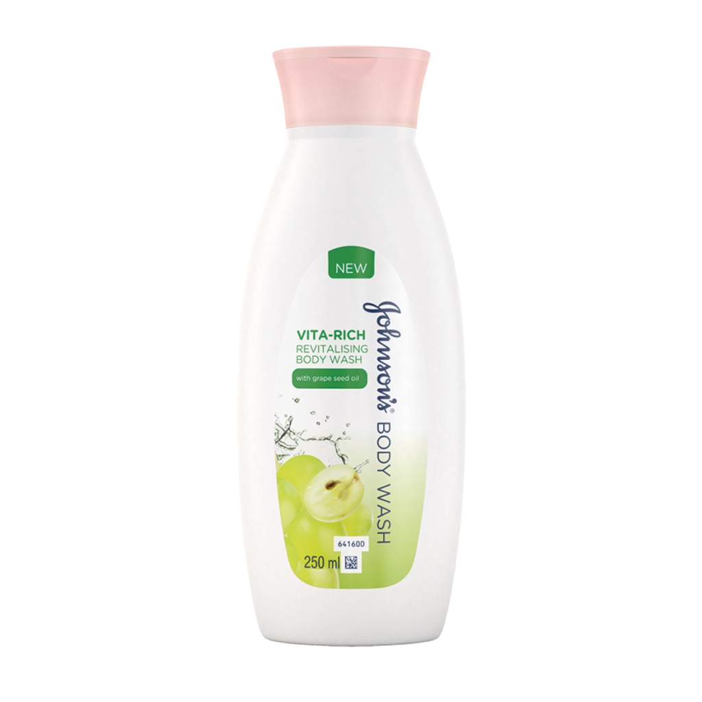 JOHNSON'S® Body Care Vita-Rich Revitalising Body Wash with Grape Seed oil