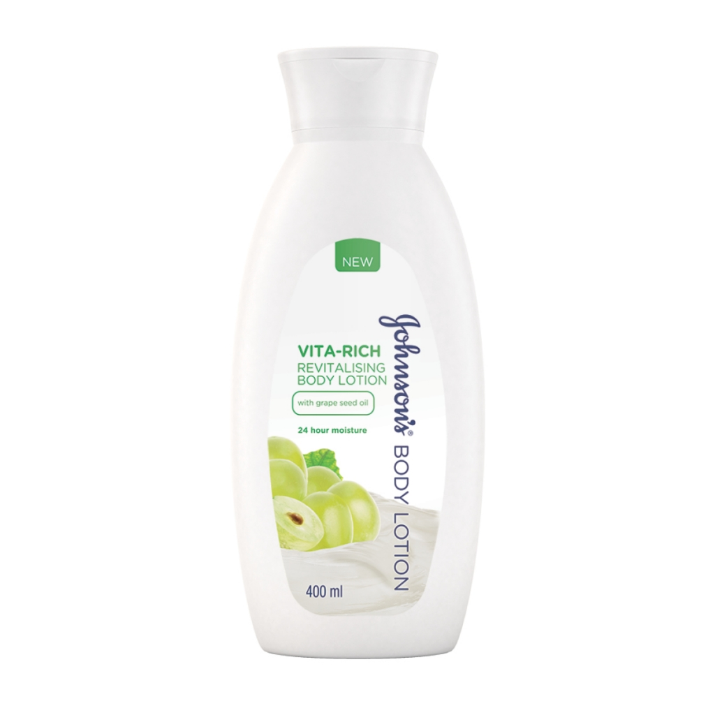 JOHNSON'S® Body Care Vita-Rich Revitalising Body Lotion with Grape Seed Oil