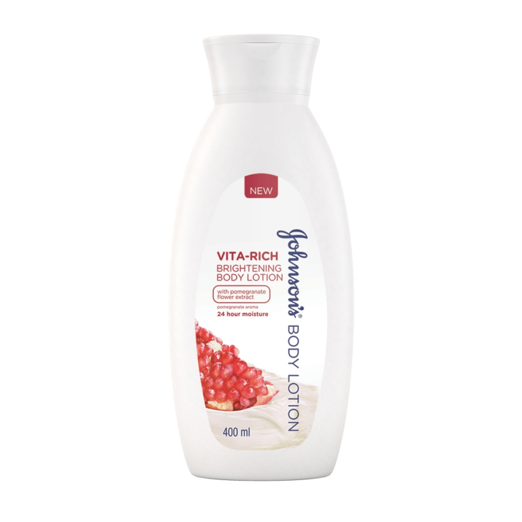 JOHNSON'S® Body Care Vita-Rich Brightening Body Lotion with Pomegranate Flower extract
