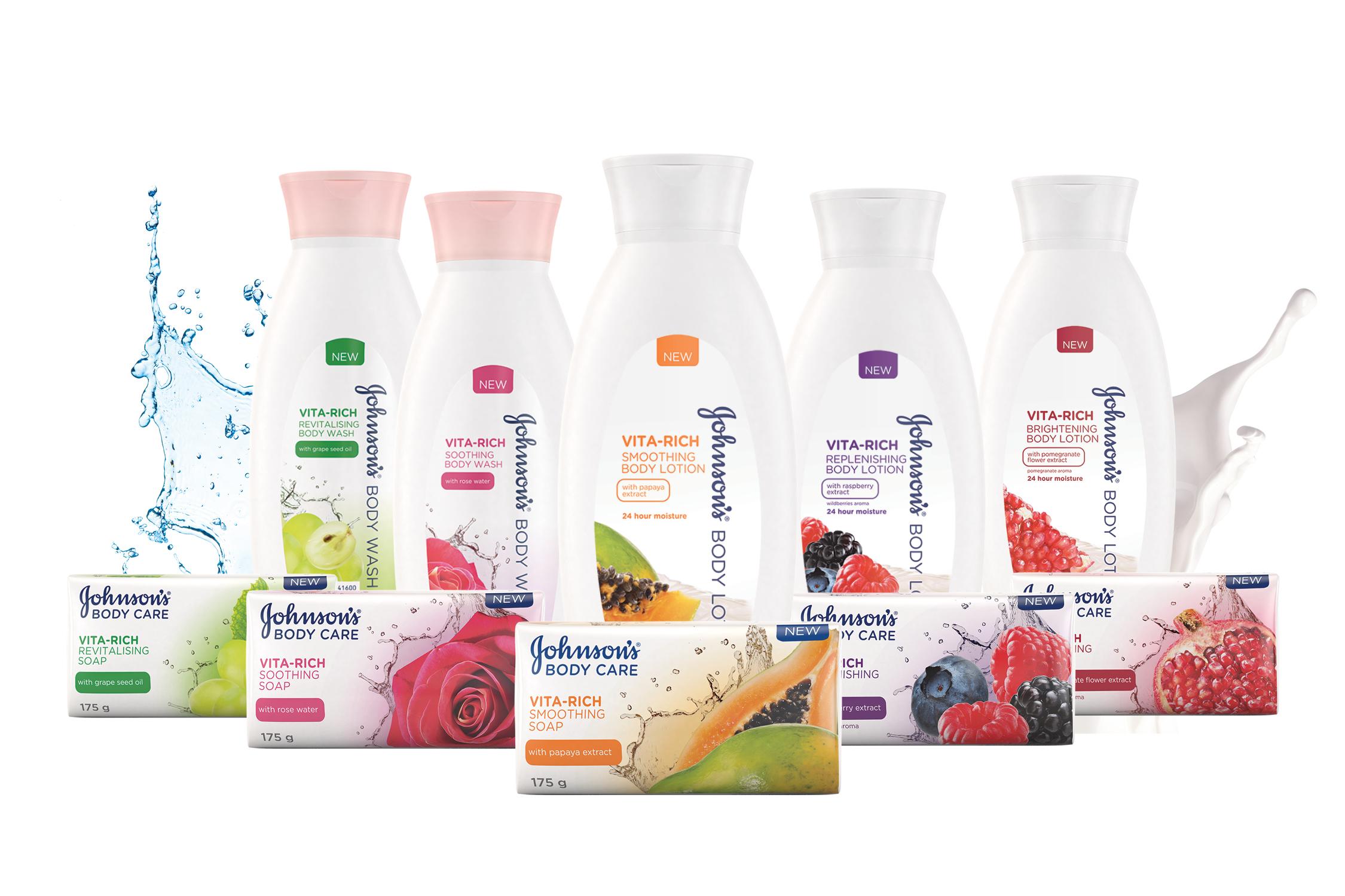 Johnson's body care product range